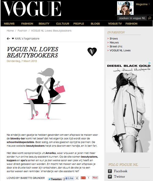 Vogue NL loves beautybookers